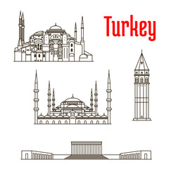 Historic landmarks and sightseeings of Turkey