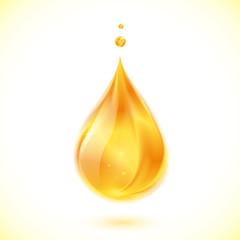 Realistic oil or honey vector drop