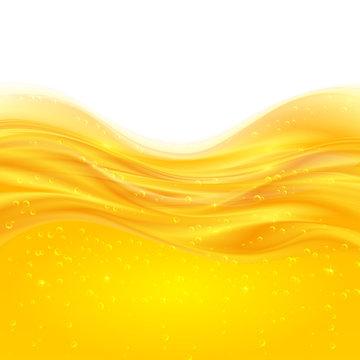 Yellow liquid oil vector background