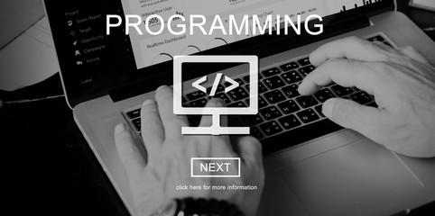 Wall Mural - Programming Applications Computer Digital Technology Concept
