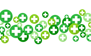 Medical background, Green crosses symbols, vector illustration design