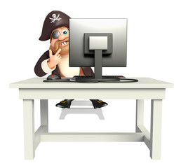 Pirate with Computer