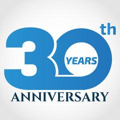 30 years anniversary logo design template