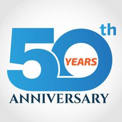 50 years anniversary logo design template