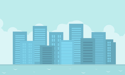 Vector flat of city landscape