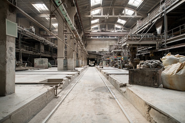 Brickworks. Photo of production workshop inside