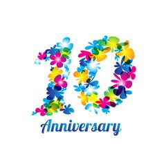 Anniversary design logo and symbol
