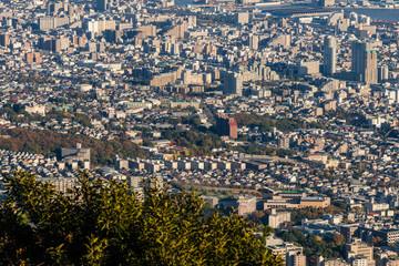 Aerial view of Kobe City,Japan