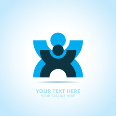 Abstract support logo, design concept, emblem, icon, flat logotype element for template.