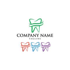 Dental Dentist Tooth Logo Icon Vector
