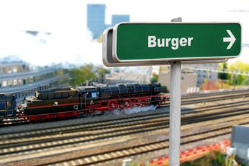 Schild 150 - Burger