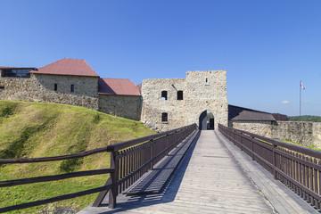 14th century Dobczyce Castle on Lake Dobczyce, near Krakow, Poland