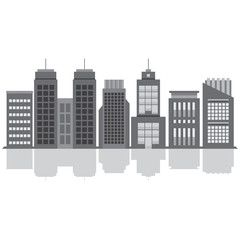 Set Of City Buildings Vector Illustration