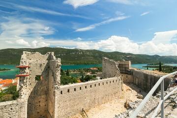 Fortress and walls in Mali Ston, Peljesac, Dalmatia, Croatia