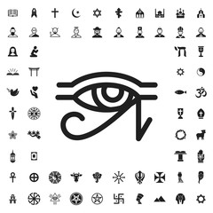 Horus eye icon illustration
