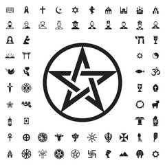 Pentagram icon illustration