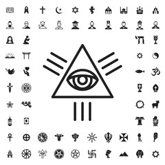 Eye of providence icon illustration