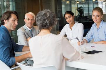 Business team in conversation