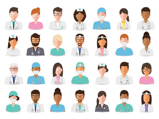 Medical and hospital staff avatars