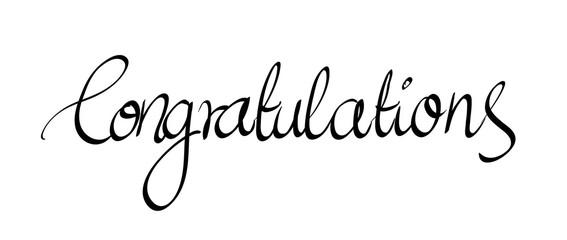 Calligraphic Congratulations lettering vector
