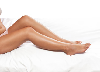 Nourished female legs
