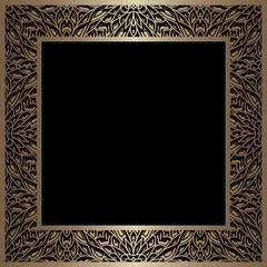 Vintage gold square frame