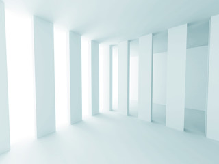 White Abstract Futuristic Design Interior Background