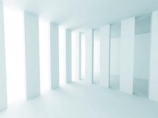 White Abstract Futuristic Design Interior Background