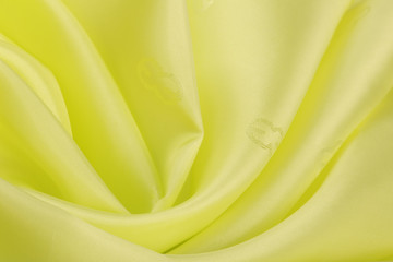 lemon-colored silk