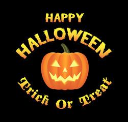 happy halloween pumpkins logo