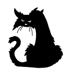 trendy  vector scary halloween cat