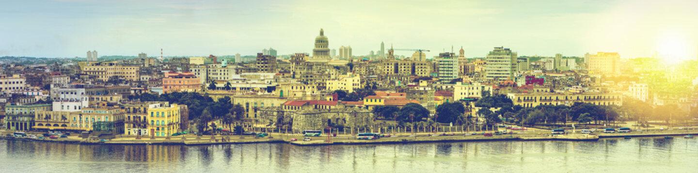 Wide panorama over Havana in Cuba