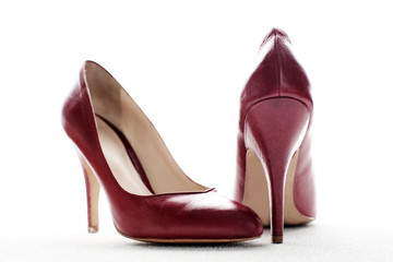 red high heels, symbolic photo for fashion, elegance and erotici