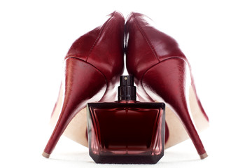 Red perfume and red shoes