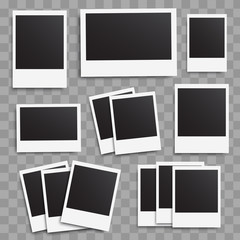 Photo frames blank big collection on a transparent background.