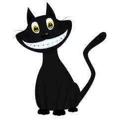 vector illustration of a black cat