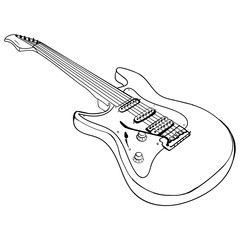 Guitar ink sketch vector