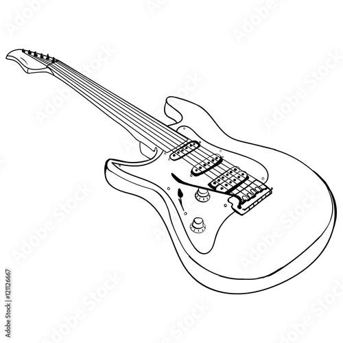 guitar ink sketch vector stock image and royalty free vector files Fender 12 String Guitar guitar ink sketch vector