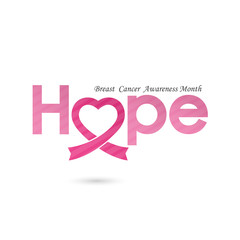 Breast cancer awareness logo design.Breast cancer awareness sign