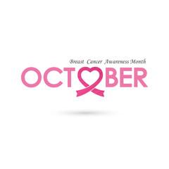Breast cancer awareness logo design.Breast cancer awareness sign