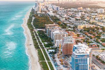 Miami Beach coastline as seen from the air Wall mural