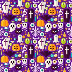 Happy Halloween Seamless Background