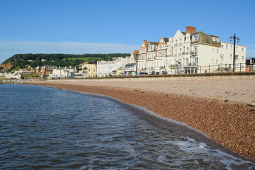 Sidmouth Esplanade on the Jurassic Coast World Heritage Site