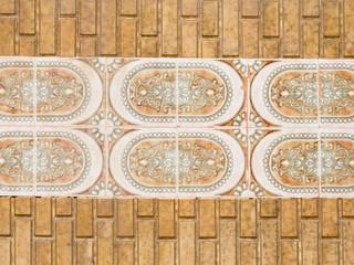 ceramic terracotta tiles with ornament