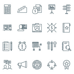 Set Of Project Management Icons On Cash Flow, Graph, Award And More. Premium Quality EPS10 Vector Illustration For Mobile, App, UI Design.