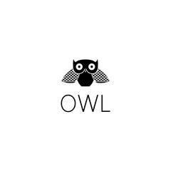 owl logo graphic design concept