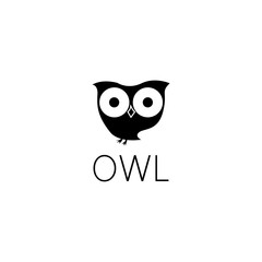 owl logo graphic design concept