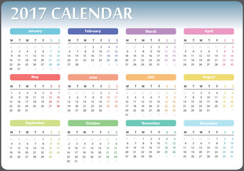 calendar with pockets