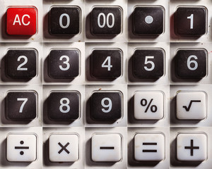 Old Digital Calculator Buttons