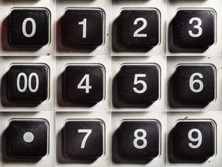 Old Calculator Buttons With Numbers